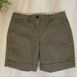 Boden Olive Green Chino Shorts Size 6P